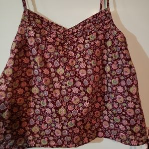 NWOT Old Navy Maroon floral tank top size Large
